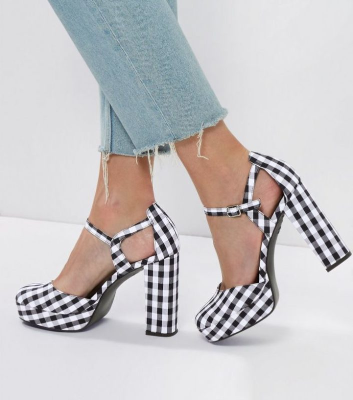 Sandales imprimé vichy New Look
