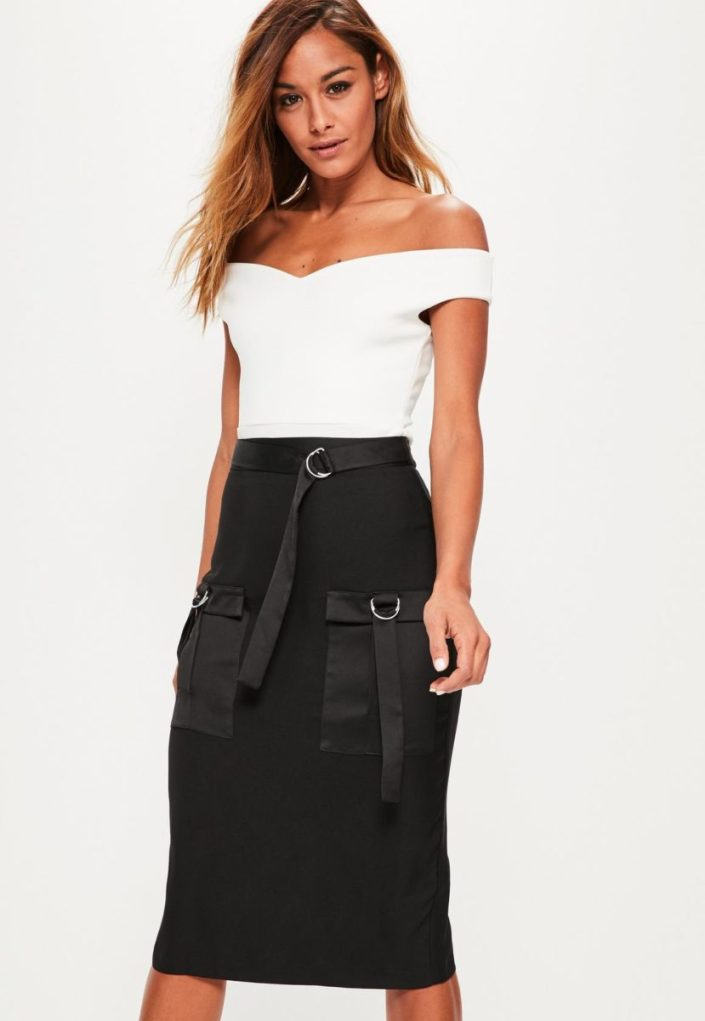 Jupe midi MISSGUIDED