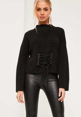 pull-noir--manches-larges-et-dtail-corset