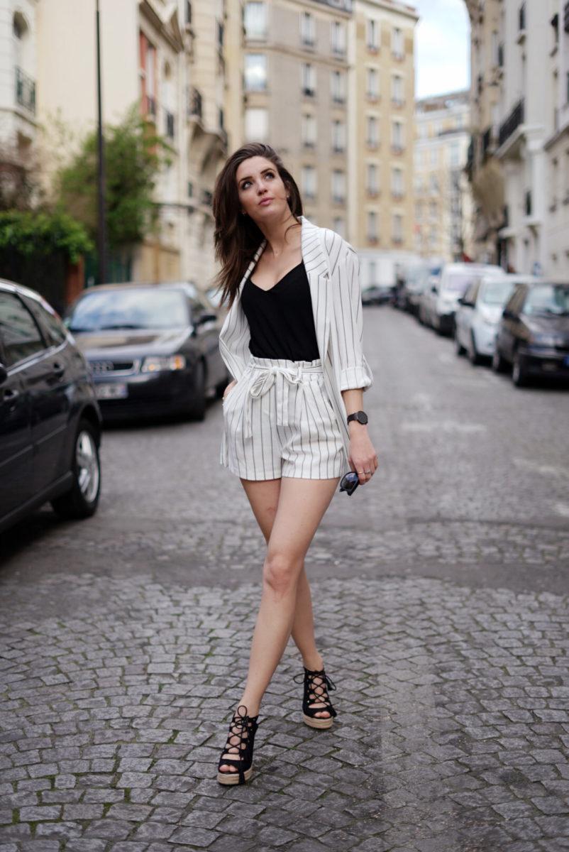 tailleur short femme