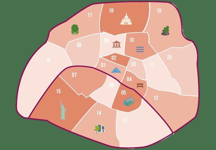 carte des lieux romantiques