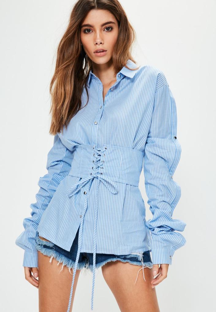 Chemise avec corset MissGuided