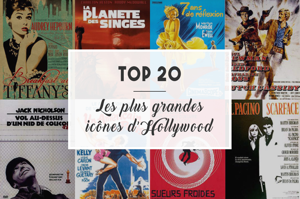 TOP 20 : Les plus grandes icônes d'Hollywood