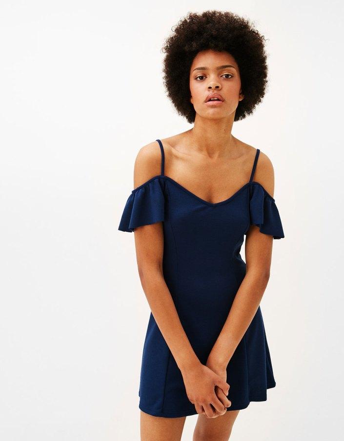 Robe courte trapèze