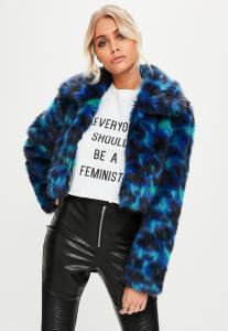 manteau-bleu-en-fausse-fourrure-imprim-lopard