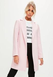manteau-rose-coupe-slim