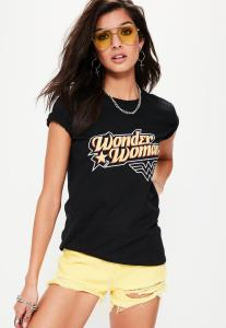 t-shirt-noir-imprim-wonder-woman