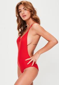 maillot-de-bain-rouge--bretelles-fines