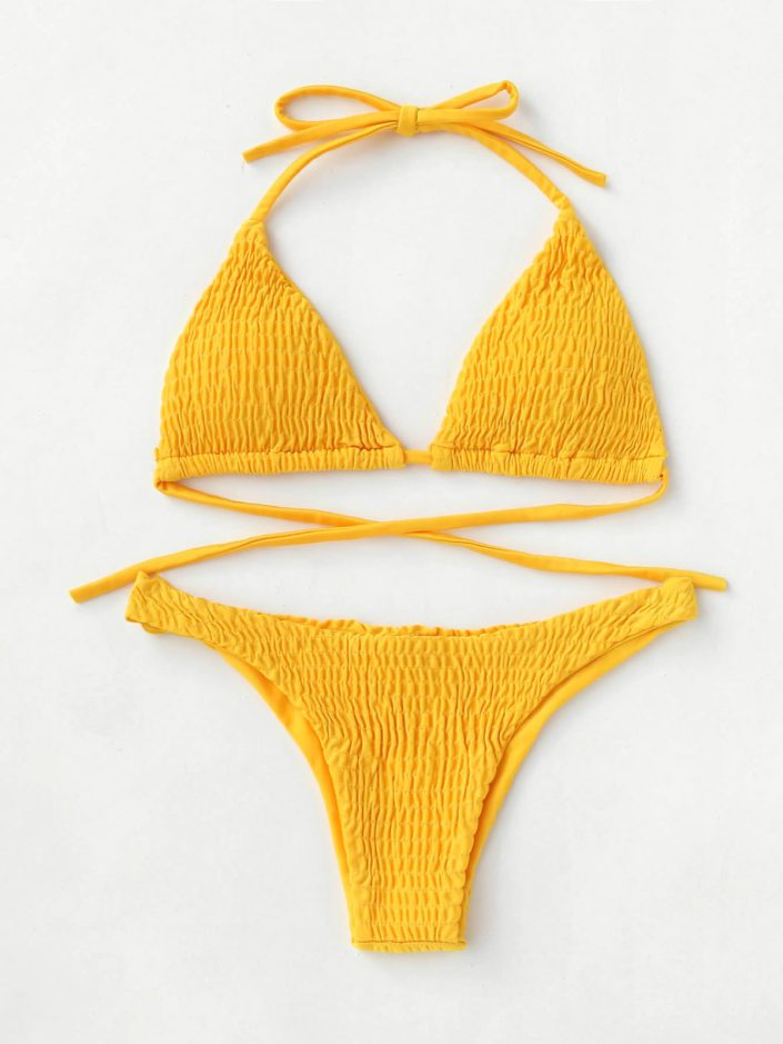 Bikini triangle jaune