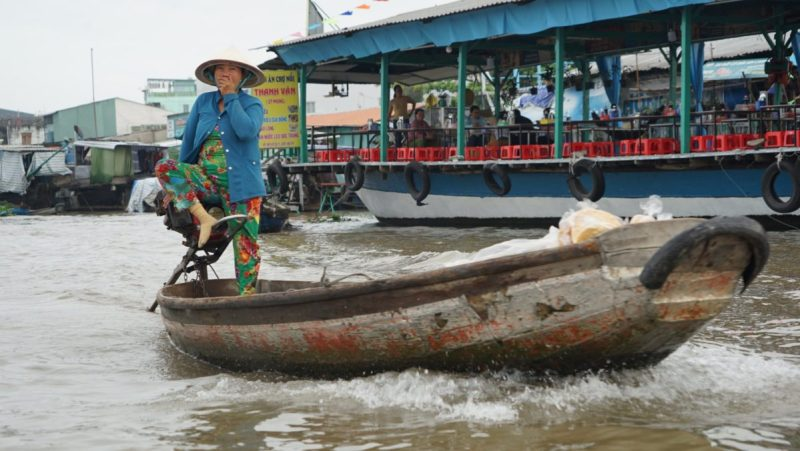 Can Tho Floating Market Conduite au pied