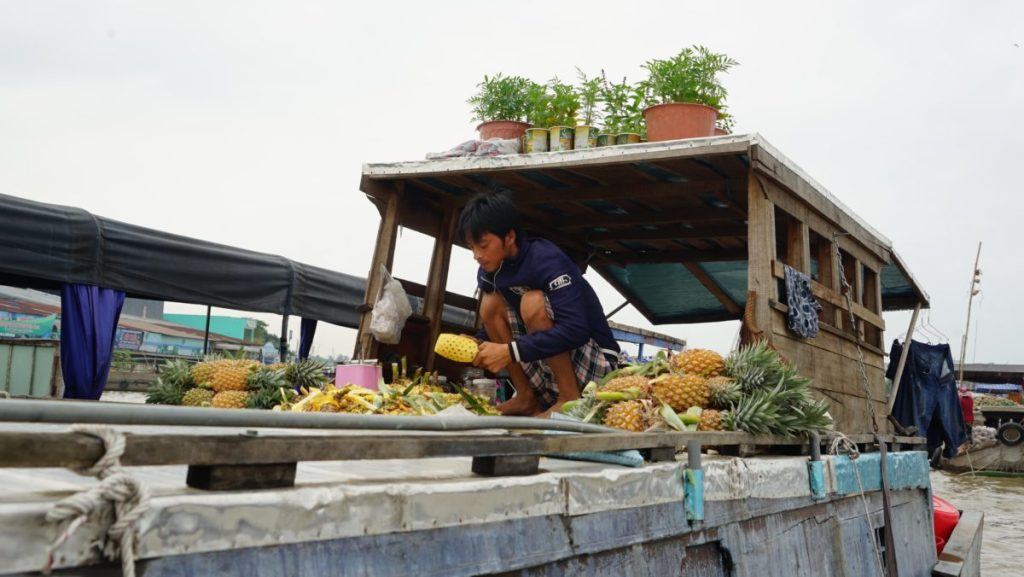 Can Tho Floating Market Ananas