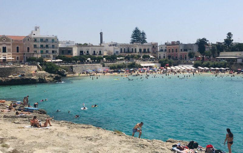 plage, pouilles, italie