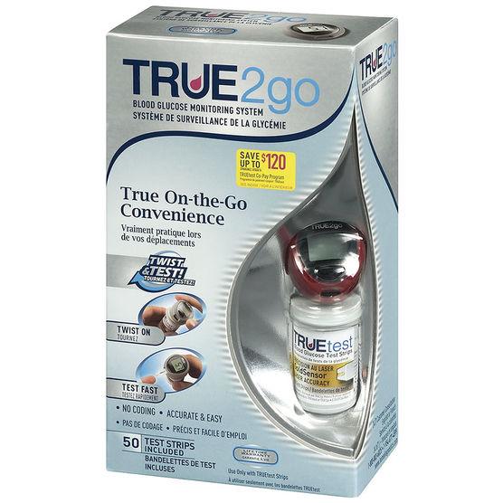 Glucómetro True2go