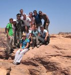 The students of Bringham Young University…for a very chilled out session while perched at the top of the High Place of Sacrifice in Petra as we exchanged stories and phone numbers. See you in Utah! and NYC! 06/21/11.