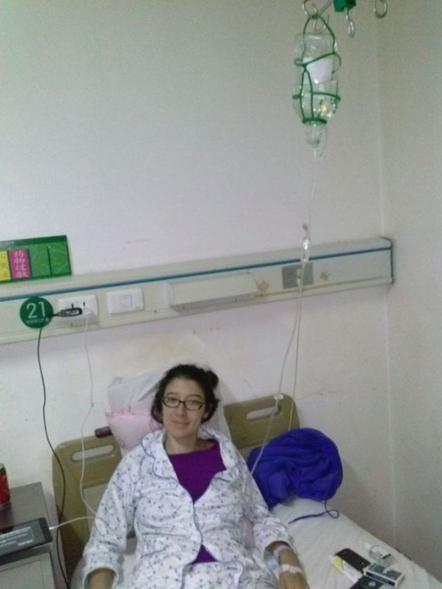 In a Chinese hospital - after emergency surgery