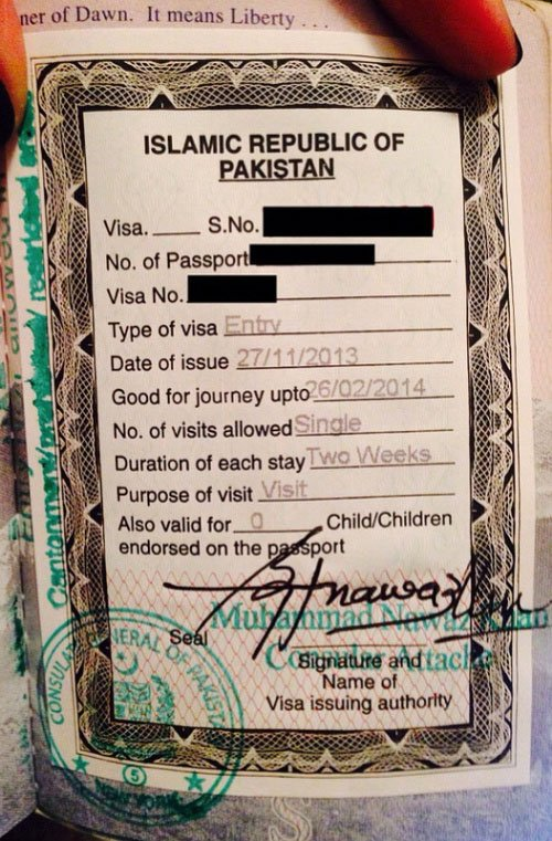 The Pakistan Visa Requirements For US Citizens  The Monsoon Diaries