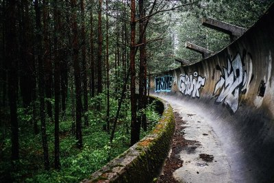 Abandoned Sarajevo Winter Olympic Bobsled & Luge Track
