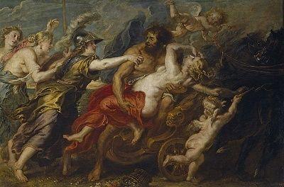 ペルセポネを連れ去るハデス