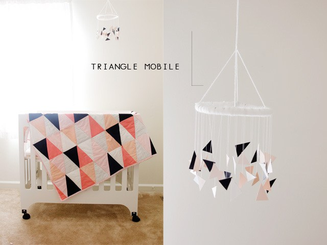 movil bebe triangulos handmade