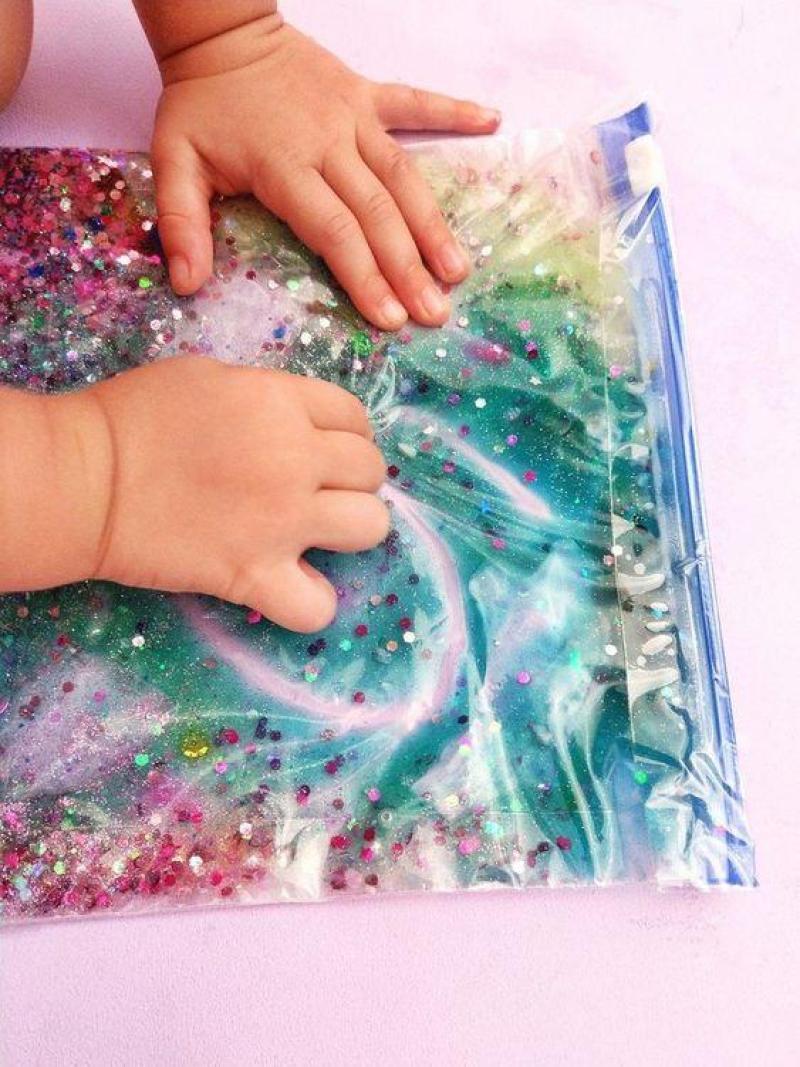 bolsa sensorial - actividades estimulacion sensorial para niños - sensory play activities for children