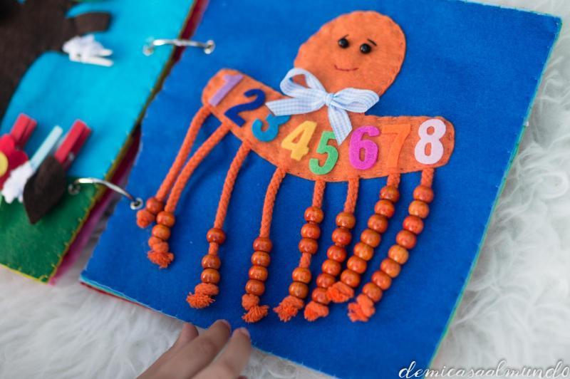 libro sensorial quiet book- actividades estimulacion sensorial para niños - sensory play activities for children