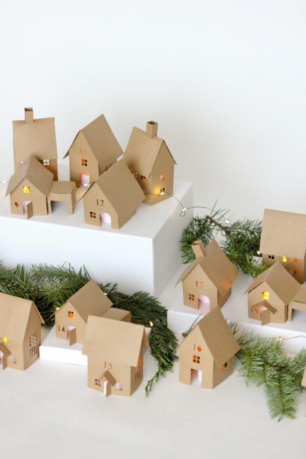 Calendario Adviento Casitas Navidad - Advent Calendar Christmas Houses DIY Homemade
