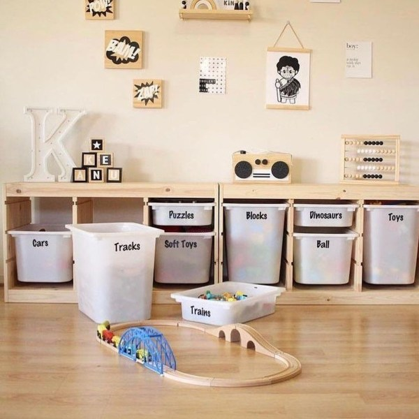 toy organization hacks - ideas de organizacion de juguetes 8