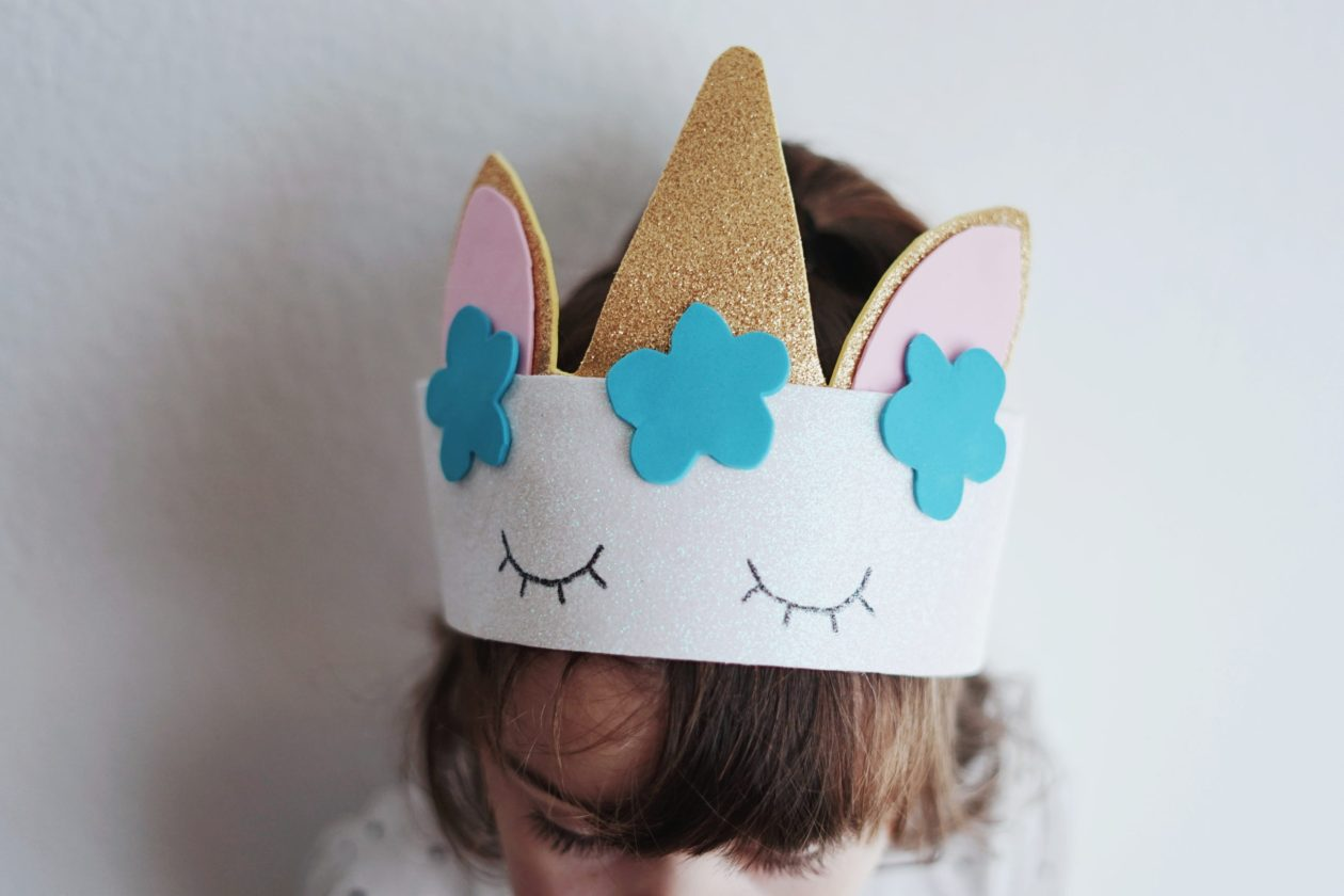 sombrero unicornio handmade goma eva - DIY - handmade unicorn hat foamy