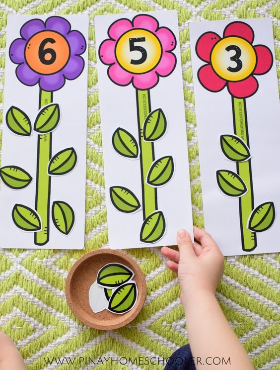 Actividades matemáticas para aprender los numeros - Math Activities to learn the numbers preschool kindergarten