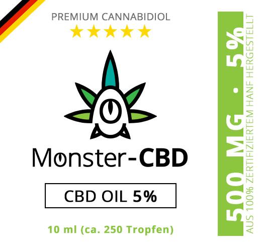 CBD Oil • 5% CBD Premium Öl