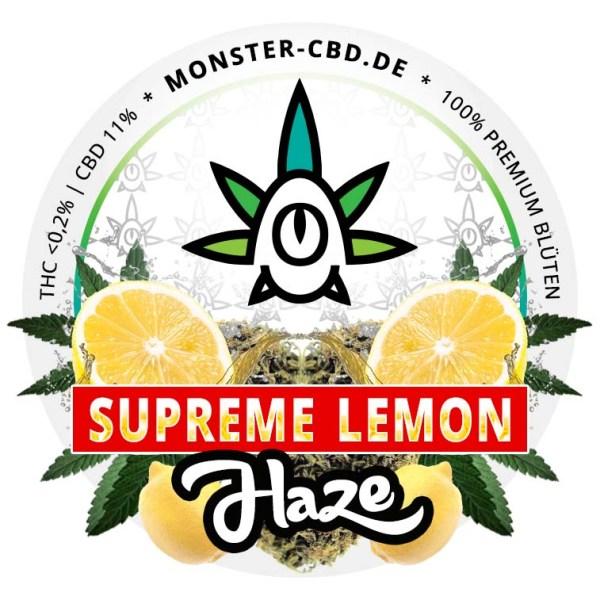 Supreme Lemon Haze 3g • 11% CBD Premium Blüten • Elite Blüte