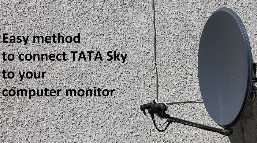 easy how to connect tata sky to computer