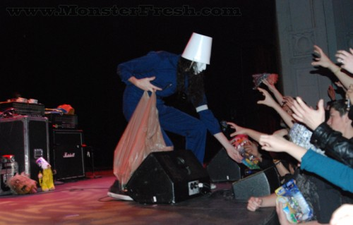 buckethead new years eve toy hand out