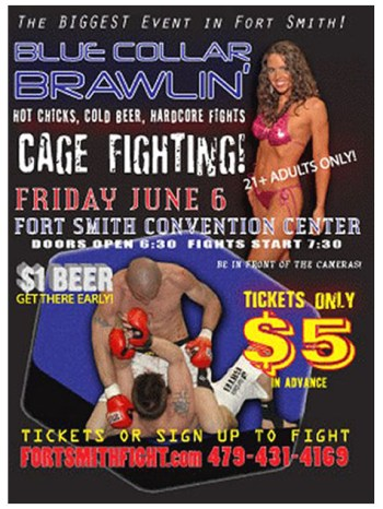 Bruno cage fight flyer