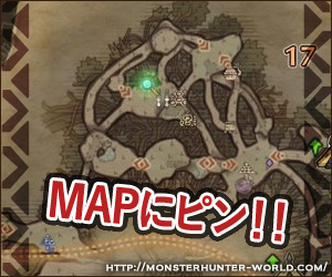MAPにピン モンスターハンターワールド