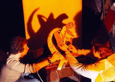 The Spawn cardboard shadow effect.