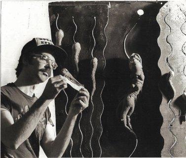 John Dods works on the slithering Spawns.