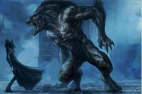 Uber Lycan concept art, by Patrick Tatopoulos.