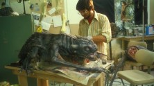 Building the Baby Vermithrax puppets.