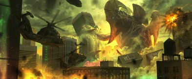 Concept art of Mutavore attacking Sydney, by Hugo Martin.