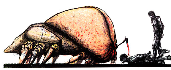 Concept art of the Brain Bug by Craig Hayes.