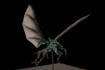 The Hopper Bug maquette, sculpted by Peter Konig.