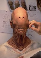Sculpting the Pale Man.