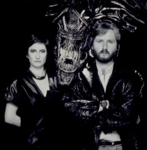 Promotional release stills with James Cameron and Gale Anne Hurd.