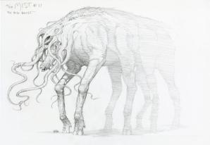 Concept art of the Behemoth by Bernie Wrightson.