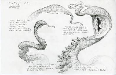 Tentacle concept by Bernie Wrightson.