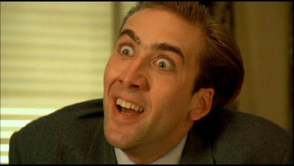 Nicolas Cage faccia da pazzo