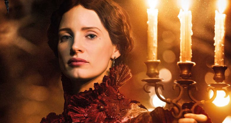 Jessica Chastain screenshot in Crimson Peak