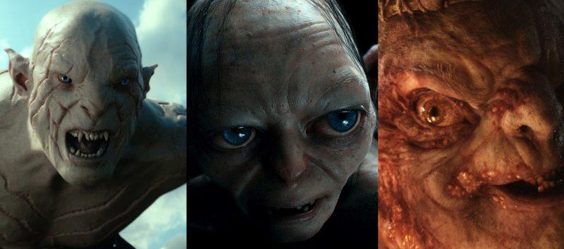 Azog Gollum e Re dei Goblin