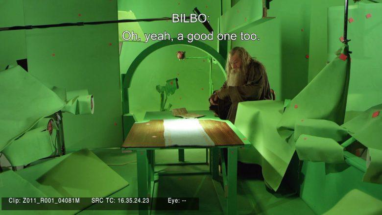 Gandalf Ian McKellen sul set de Lo Hobbit